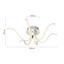 Led Stropná Lampa Valerie Max. 4,5 Watt - strieborná, kov/plast (65/65/19cm)