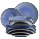 Tafelservice Ossia 12-Tlg - Hellblau, Basics, Keramik