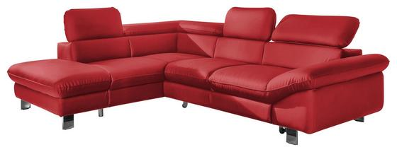 Wohnlandschaft in L-Form Driver 214x266 cm - Chromfarben/Rot, MODERN, Textil (214/266cm)