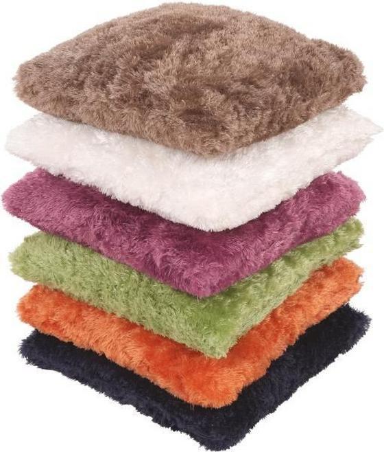 Dekorpárna Curly - lila/barna, konvencionális, textil (40/40cm) - OMBRA