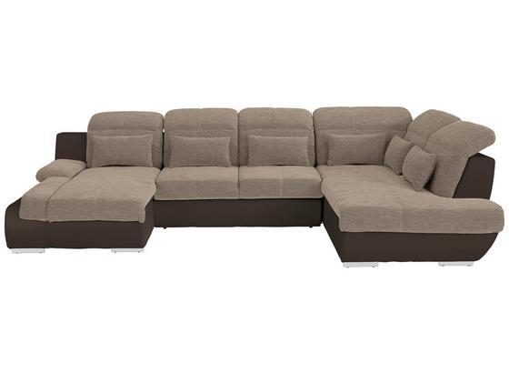 Sedacia Súprava Multi - hnedá/béžová, Moderný, textil (184/345/228cm)