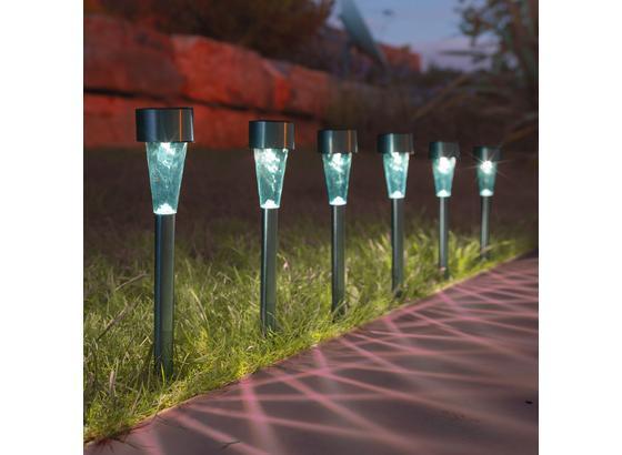 Solárne Svietidlo Alois 6ks/bal - číra/farby nerezovej ocele, umelá hmota/kov (4,7/4,7/35cm) - Mömax modern living