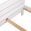 Posteľ Thea - biela, Romantický / Vidiecky, drevo (147/79/208cm)