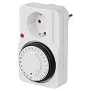 Zeitschaltuhr Weiß - Weiß, KONVENTIONELL, Kunststoff/Metall (11,9/7,3cm)