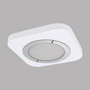 LED-Deckenleuchte Puyo - Chromfarben/Weiß, MODERN, Kunststoff/Metall (40/40/4cm)