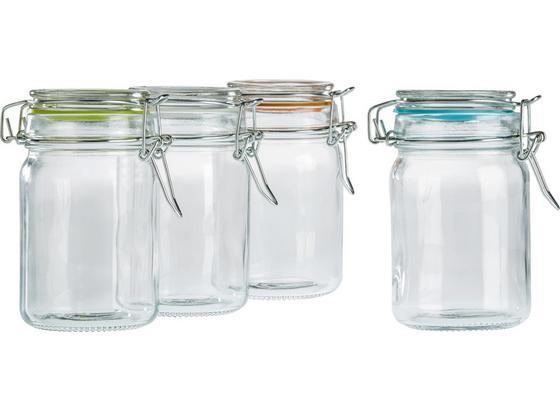 Skleněná Dóza Na Potraviny Mimi - oranžová/bílá, kov/umělá hmota (4,3/8,5cm) - Mömax modern living