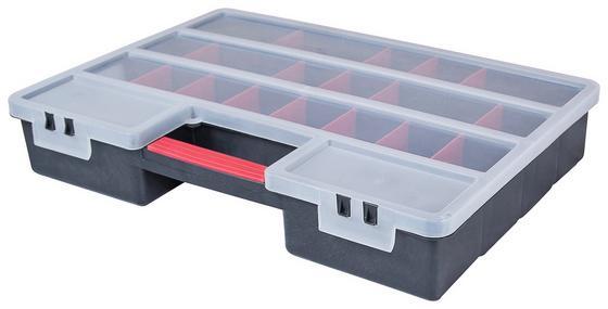 Sortimentskasten Profi Organizer - Transparent/Rot, KONVENTIONELL, Kunststoff (46/32,5/8cm)