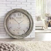 Nástenné Hodiny Sea - sivá/biela, drevený materiál (78/5cm) - MÖMAX modern living