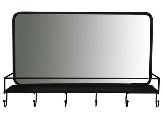 Lišta S Háčky Sonja - černá, Moderní, kov/sklo (50/32/10cm)