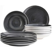 Tafelservice 12-Tlg Tafelservice Derby - Grau, Basics, Keramik (32/32/30cm)