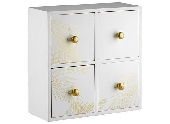Dekorační Komoda Oro - bílá, dřevo (25/10/25cm) - Mömax modern living