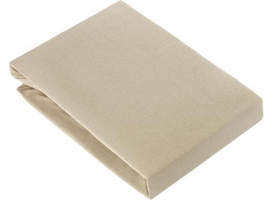 Prostěradlo Napínací Basic - béžová, textil (180/200cm) - Mömax modern living