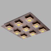 LED-Deckenleuchte Cayman - Nickelfarben, MODERN, Kunststoff/Metall (45/45/7cm)