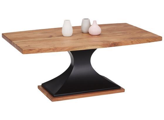Konferenčný Stolík Django - čierna/farby akácie, Štýlový, kov/drevo (110/45/70cm) - Premium Living