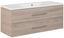 Waschtischkombi B. Clever 120 cm Esche - Eschefarben/Weiß, MODERN, Holzwerkstoff/Kunststoff (120/51/46cm) - Fackelmann