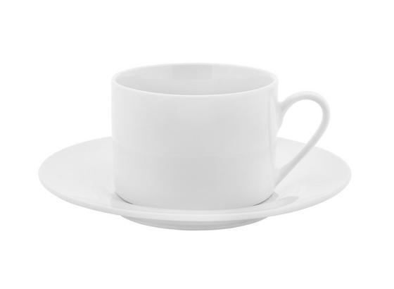 Šálka Na Kávu S Podšálkou Adria - biela, Konvenčný, keramika (15,8cm) - Mömax modern living