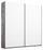 Schwebetürenschrank Belluno 181 cm Stone/Weiß - Weiß/Grau, MODERN, Holzwerkstoff (181/210/62cm)