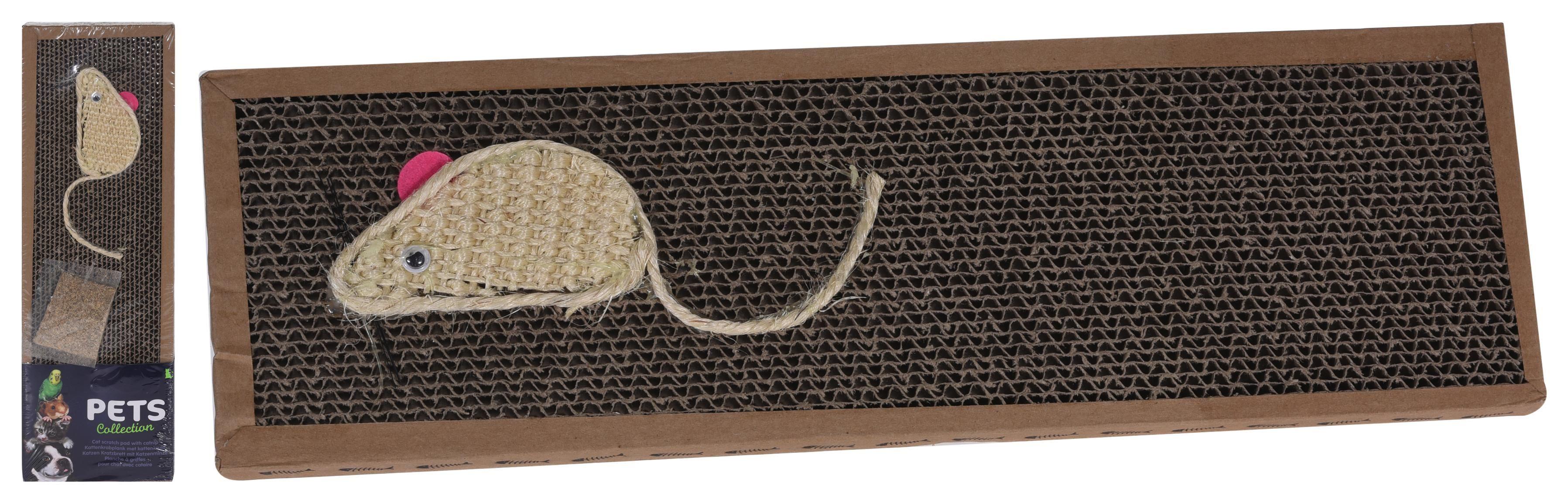 Kratzteppich Kitty - Braun, Basics, Karton/Textil (38/12,5/2cm)