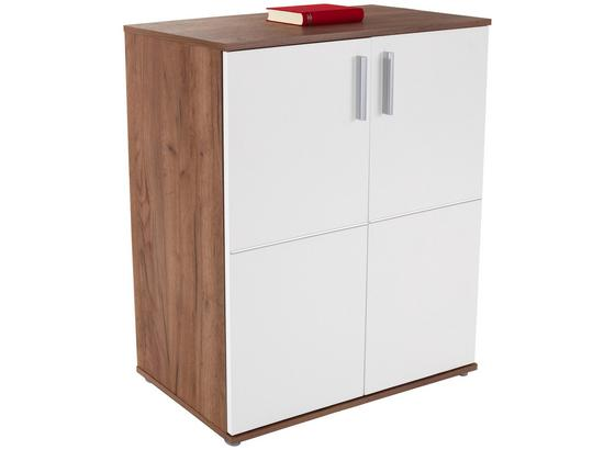 Komoda Ina 01 - bílá/barvy dubu, Moderní, kompozitní dřevo