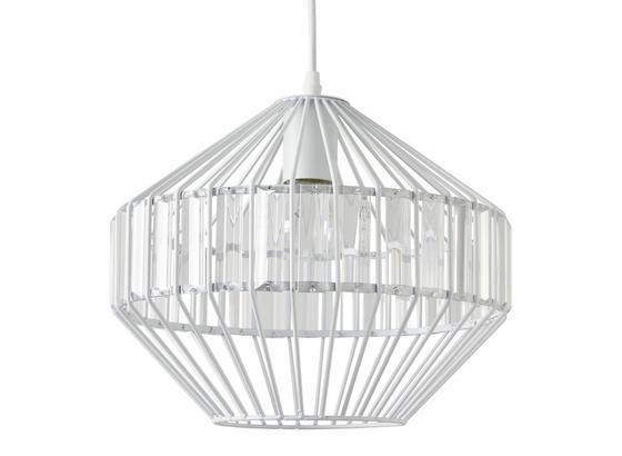 Závesná Lampa Lucy - biela, Štýlový, kov/sklo (30/120cm) - Modern Living