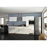 Küchenblock Mailand B: 320 cm Weiß - Eichefarben/Weiß, Basics, Holzwerkstoff (320/200/60cm) - MID.YOU
