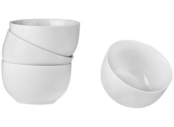 Miska Na Müsli 4 Ks Set, 'billy' - bílá, Moderní, keramika (13/7,4cm) - Mömax modern living