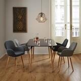 Jedálenský Stôl Anuk - čierna, Moderný, drevený materiál/drevo (160/75/90cm) - Modern Living