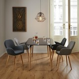 Jedálenský Stôl Anuk - čierna, Moderný, drevo (160/75/90cm) - Modern Living