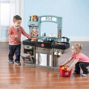 Kinderküche Step2 Best Chefs Kitchen - Blau/Grau, MODERN, Kunststoff (87,3/98/29,2cm)
