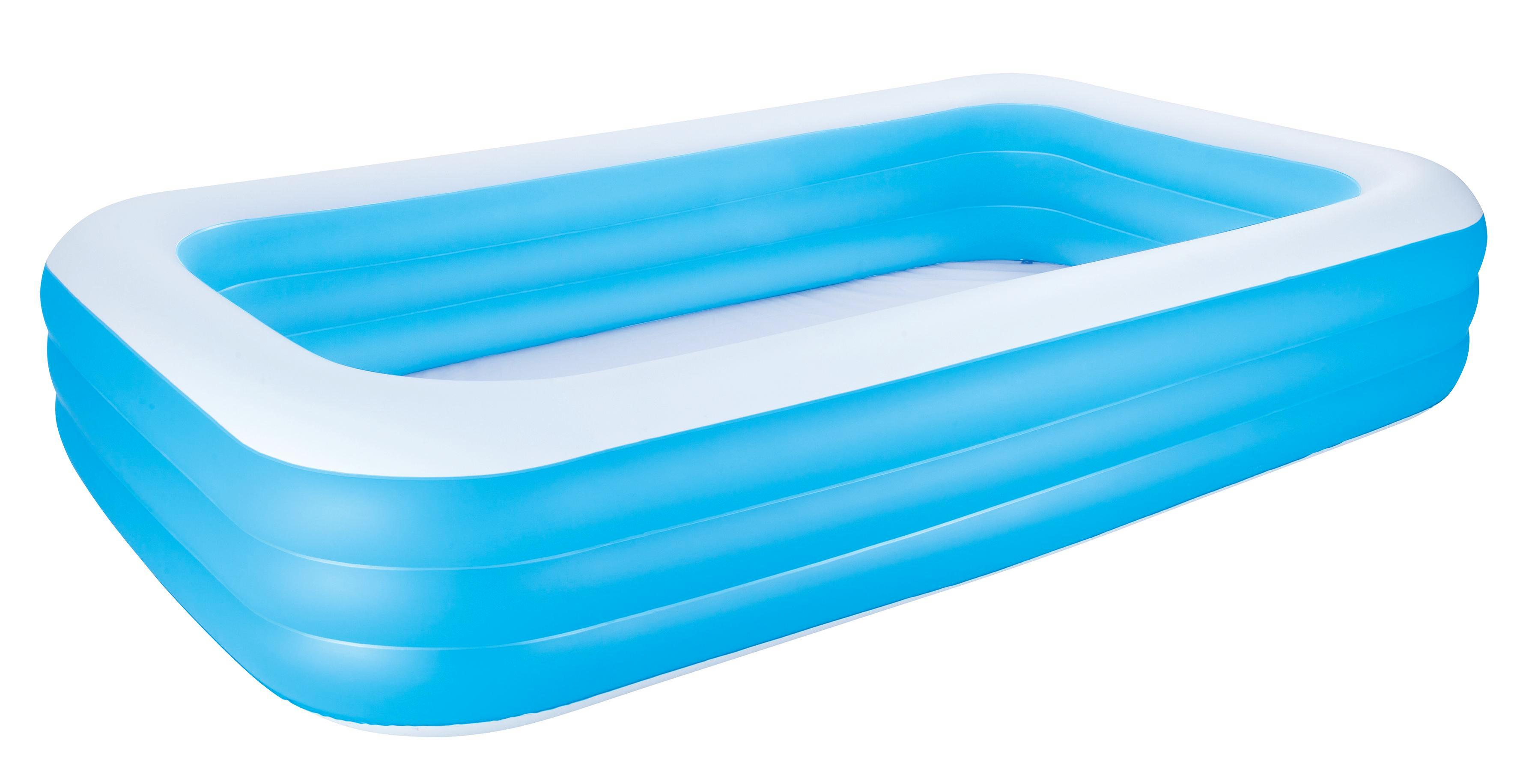 Bestway Schwimmbecken Family Pool Deluxe   Blau/Weiß, Kunststoff (305/183/