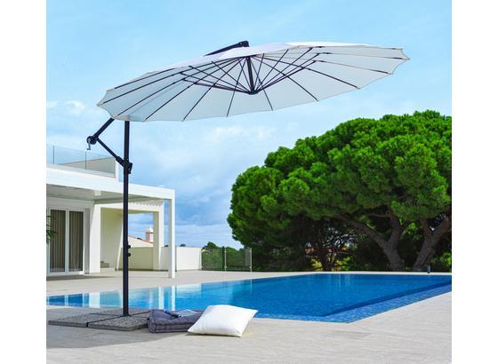 Závěsný Slunečník Marbella - černá/přírodní barvy, kov/textil (290/258/290cm) - Modern Living