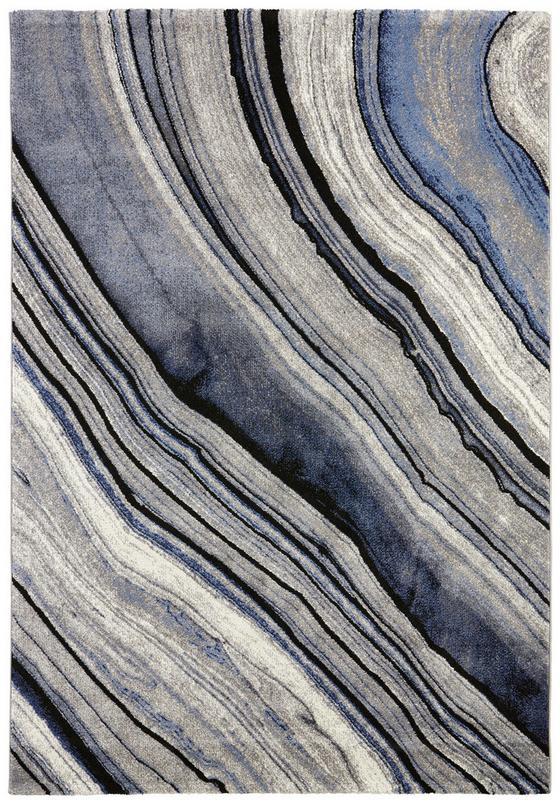Koberec Tkaný Cosmo 3 - modrá, Moderní, textil (160/230cm) - Mömax modern living