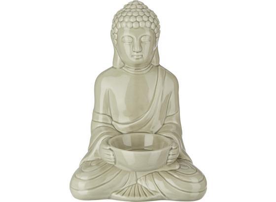 Držiak Na Čajové Sviečky Buddha - sivá, Štýlový, keramika (11,6/9/16,7cm) - Mömax modern living