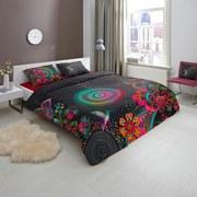 Wendebettwäsche Izefia - Multicolor/Schwarz, MODERN, Textil