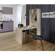 Tisch-Regal-Kombination Breakfast 70 cm Eiche Dekor - Sonoma Eiche, KONVENTIONELL, Holzwerkstoff (137/190/70cm)
