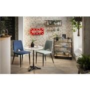 Stuhl-Set 02440-05 B: 56 cm Grau - Schwarz/Grau, Basics, Textil/Metall (56/86/48cm)