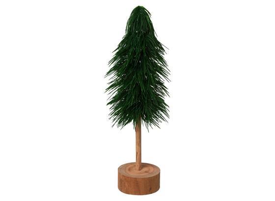 Umelá Rastlina Vianočný Stromček - prírodné farby/zelená, Basics, drevo/plast (53cm)