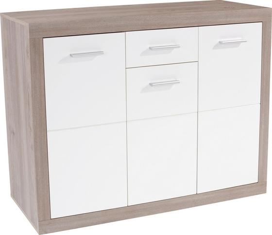 Komoda Sideboard Cancan 1 - barva stříbrného dubu, Moderní, dřevěný materiál (132/90/35cm)