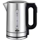Wasserkocher Kl-T 2200 - Silberfarben/Schwarz, MODERN, Metall (14/24cm) - Silva Homeline