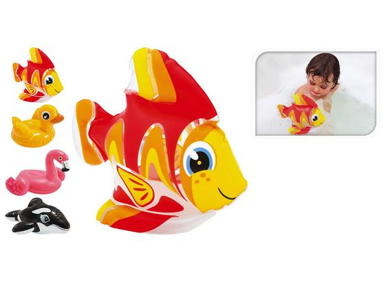 Badespielzeug Happy Animal - Gelb/Rot, Basics, Kunststoff (15,5/2,4/20,5cm)