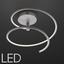 Stropné Svietidlo Reggie Led - strieborná, Moderný, kov (35,5/34cm) - Modern Living