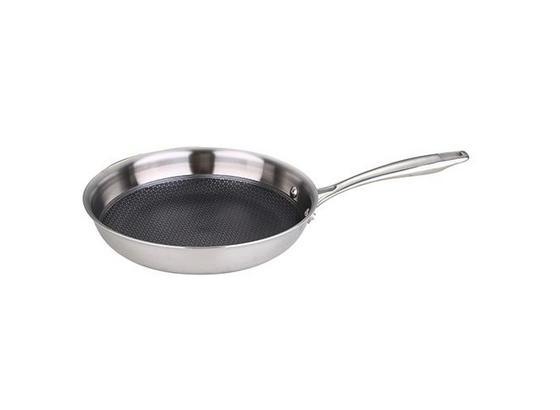 Pánev Gourmet - barvy stříbra, Konvenční, kov (20/4,2cm) - Premium Living