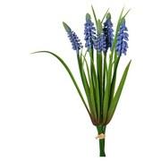 Kunstpflanze Hyazinthe Moni Blau - Blau/Grün, Natur, Kunststoff (30cm)
