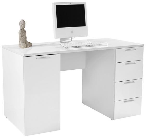 Schreibtisch Larry II - Weiß, MODERN, Holzwerkstoff (145/75/60cm)