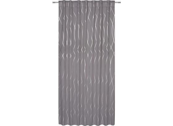 ZATEMŇOVACÍ ZÁVES GLAMOUR - antracitová/strieborná, Štýlový, textil (140/245cm) - Mömax modern living