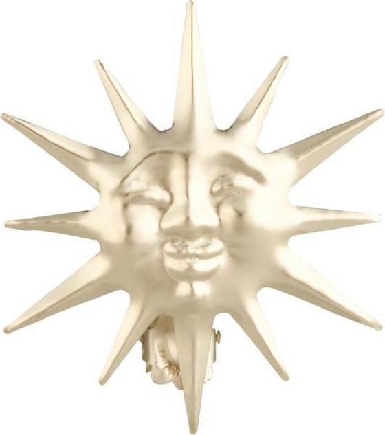 Dekospange Sonne, 2 Stück - Goldfarben, KONVENTIONELL, Metall - Ombra