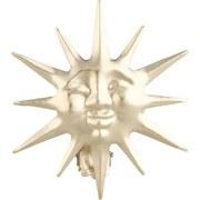 Dekospange Sonne, 2 Stück - Goldfarben, KONVENTIONELL, Metall