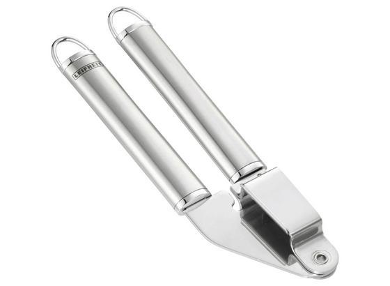 Knoblauchpresse Leifheit - Edelstahlfarben, KONVENTIONELL, Metall (9/3/24cm) - Leifheit