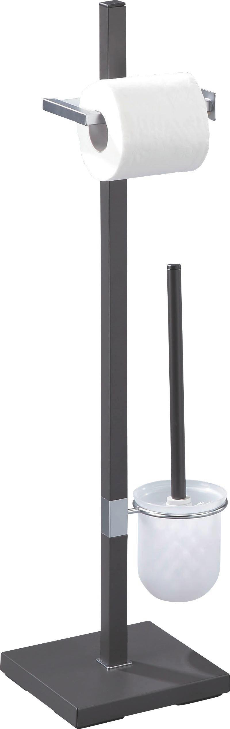 Wc-papírtartó Mode - antracit, modern, fém (22/76/18cm) - HOMEZONE