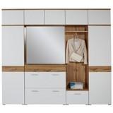Garderobenkombination Space New 2 - Eichefarben/Weiß, MODERN, Holzwerkstoff (265/199/35cm)